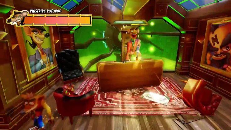 Crash Bandicoot Walkthrough - Pinstripe Potoroo This is a video walkthrough of the Pinstripe Potoroo boss fight in the Crash Bandicoot N. Sane Trilogy on PlayStation 4. July 12 2017 at 03:51PM  https://www.youtube.com/user/ScottDogGaming