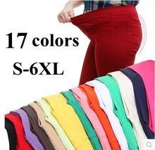 2015 di trasporto di alta qualità di colore della caramella delle donne dei jeans elastico in vita femminile plus size pantaloni donna leggings s-6xl 110 kg(China (Mainland))