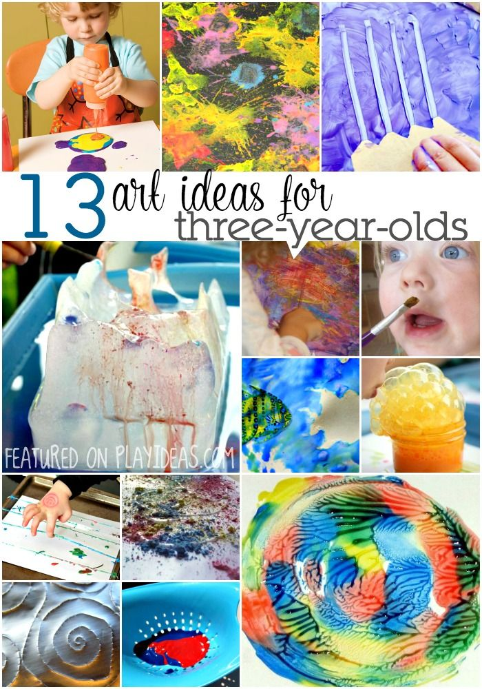 These easy art activities for three year olds will expand their imaginations! You'll love discovering what they create!