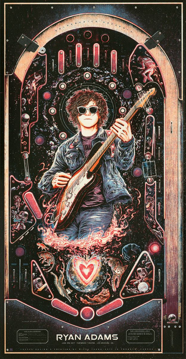 """Ryan Adams – Los Angeles, CA 2017"" by Miles Tsang 
