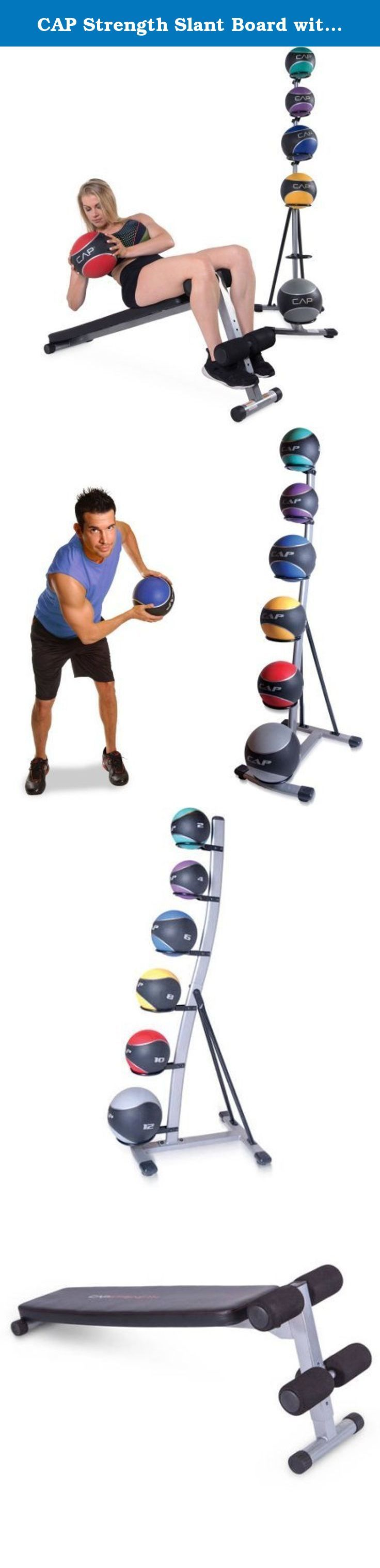 CAP Strength Slant Board with 42 lb Medicine Ball Set. Target your abdominal and core muscles with the CAP Strength Slant Board with 42 lb Medicine Ball Set. This convenient set gives you the tools you need to get your abdominal region in top shape. The CAP Strength Slant Board is a compact and durable piece of equipment. The steel frame and powder-coated finish ensure it will withstand even the most vigorous routines. The CAP Strength Slant Board assists in a variety of exercises…