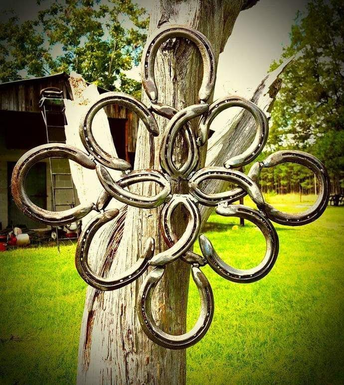Rustic Horseshoe Wreath  by KadyKustomKrafts , $89.99 USD