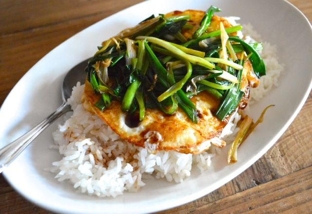 This is a meal that takes five minutes to put on the table, and it's not ramen. It's the best thing ever when you're hungry but don't feel like cooking. Just fry a couple of eggs and some scallions, put it over some heated leftover rice, and drizzle with soy sauce. You won't be disappointed. …