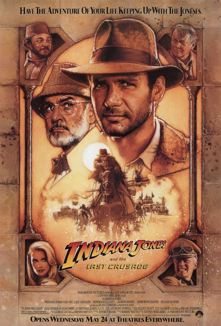 Indiana Jones And The Last Crusade: Sean Connery and Harrison Ford. What's not to love?