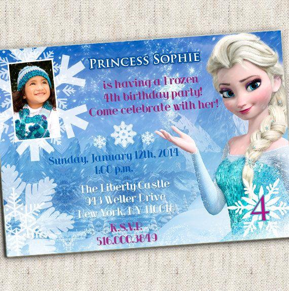 126 best fiesta frozen images on pinterest | birthday party ideas, Birthday invitations