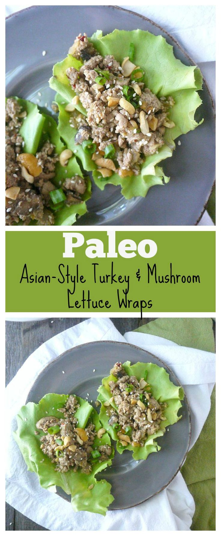These delicious lettuce wraps are ready in just 30 minutes and they're #paleo, #glutenfree and #dairyfree!