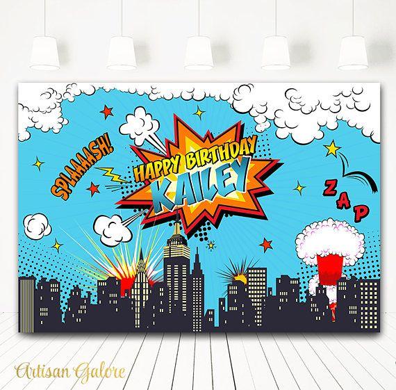 Photo Prop Comics Batman versus superman style Poster Sign Printable Baby Super Hero Vintage First Birthday Chalkboard Poster