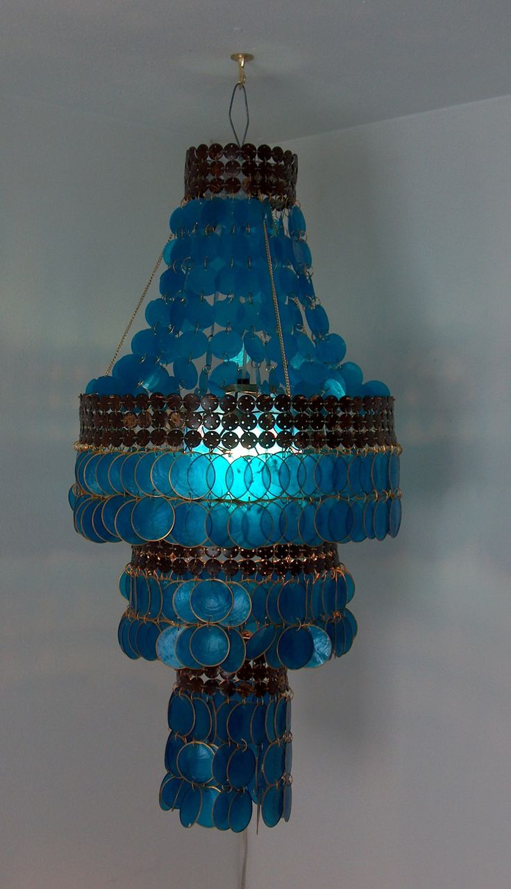 famous hand crafted Philippine capiz chandelier