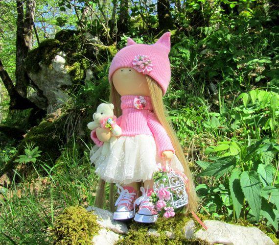Jessie Doll-Handmade Doll-Fabric Doll-Rag от NICEDOLLSANDRABBITS