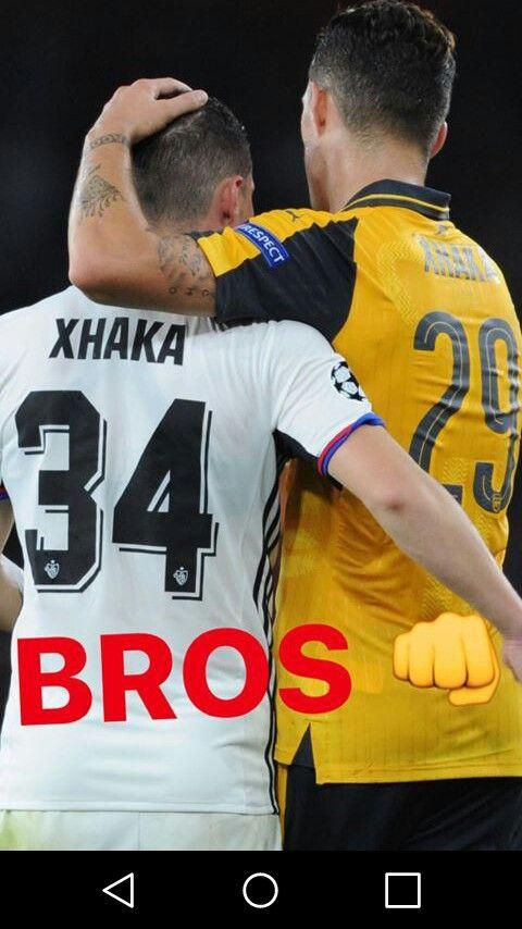 Granit & Taulant Xhaka - Arsenal Instagram story #xhaka #arsenal #afc #coyg #football #soccer