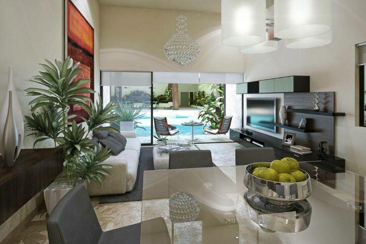 Interiores amplios y luminosos
