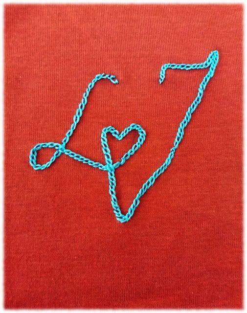Romantiskt monogram #kedjestygn
