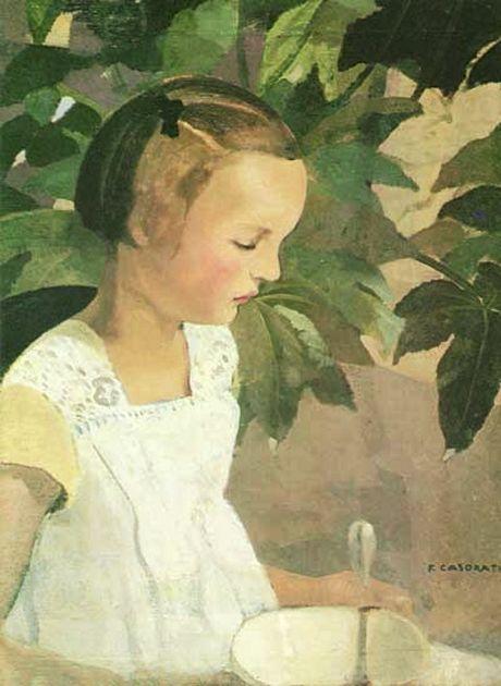 'Girl With Bowl', 1924 - Felice Casorati