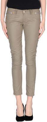PAOLO PECORA Casual pants - Shop for women's Pants - Military green Pants