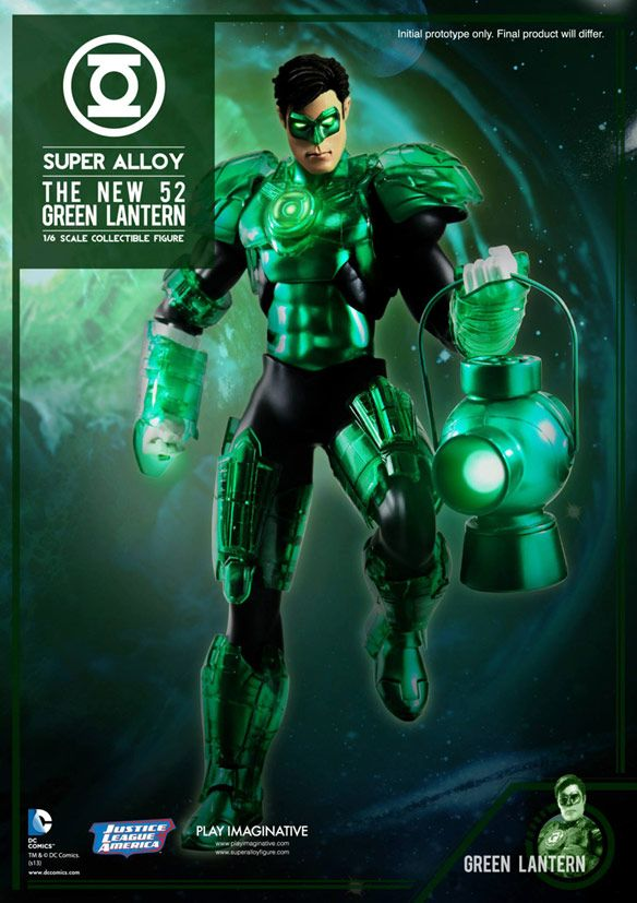 Green Lantern -The New 52 Super Alloy 1:6 Scale Die-Cast Metal Light-Up Collectible Action Figure