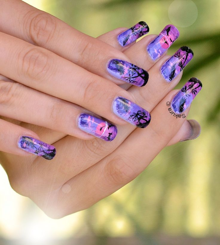 NAIL ART NUIT TROPICALE