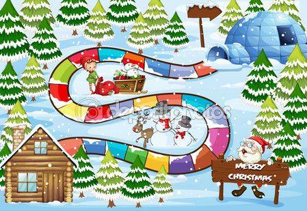 Boże Narodzenie gra planszowa — Ilustracja stockowa #57427667