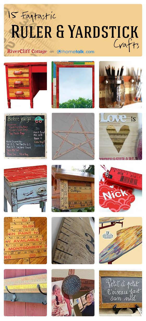 15 Fantastic Ruler & Yardstick Crafts | curated by 'RiverCliff Cottage' blog!