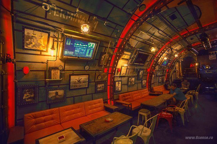 Steampunk submarine bar...How awesome is ths?!(via @BoredPanda)