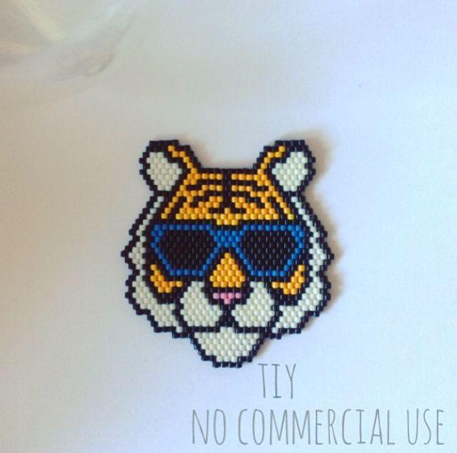 Tigre en perles Miyuki #bijouxtiy