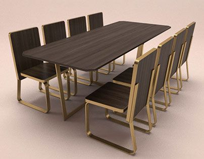 "Check out new work on my @Behance portfolio: ""bronze dinner table"" http://be.net/gallery/50283967/bronze-dinner-table"