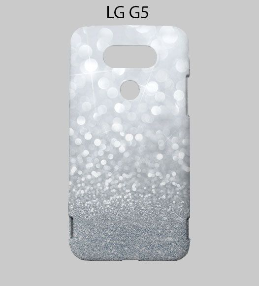 Sparkle Grey Glitter LG G5 Case Cover