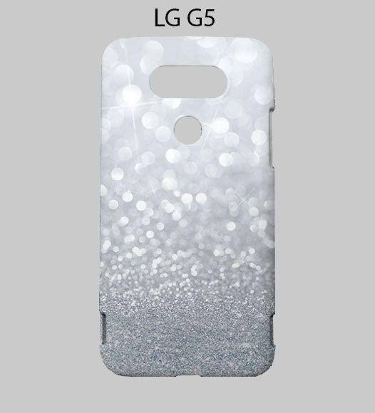Sparkle Grey Glitter LG G5 Case Cover