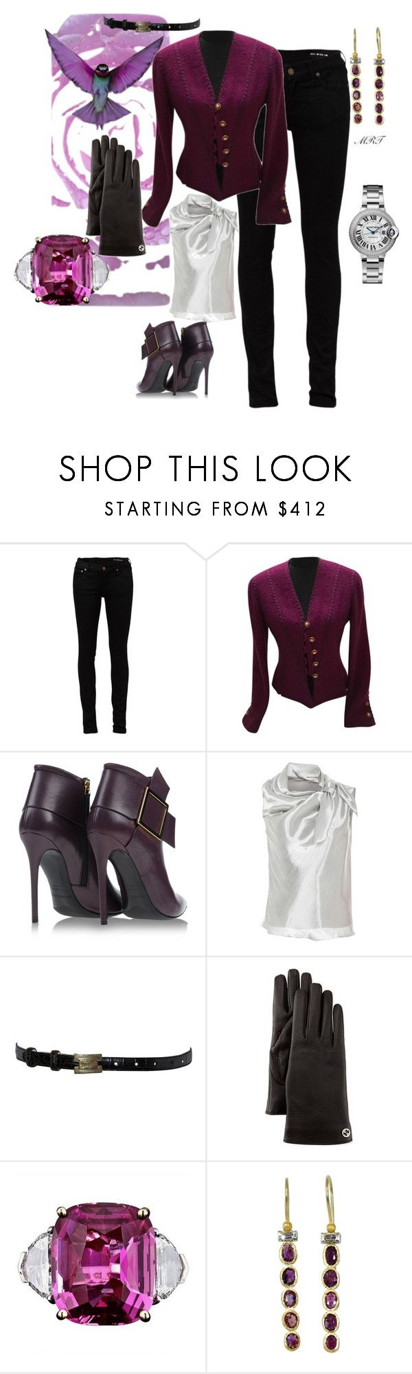 """Aubergine"" by meesh57 on Polyvore featuring Yves Saint Laurent, Chanel, Gianmarco Lorenzi, Donna Karan, Gucci and Boaz Kashi"
