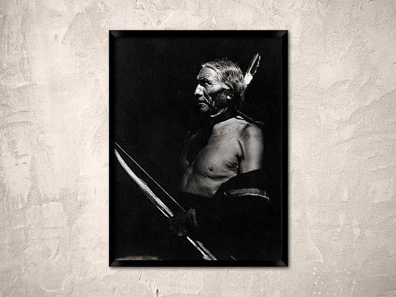 Native american  Whitehawk  portrait of native american man