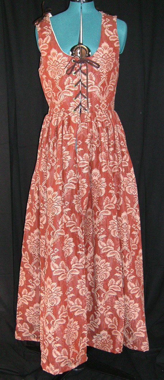 Burgandy and Champagne Irish Gown  Size 12 by Mordork on Etsy