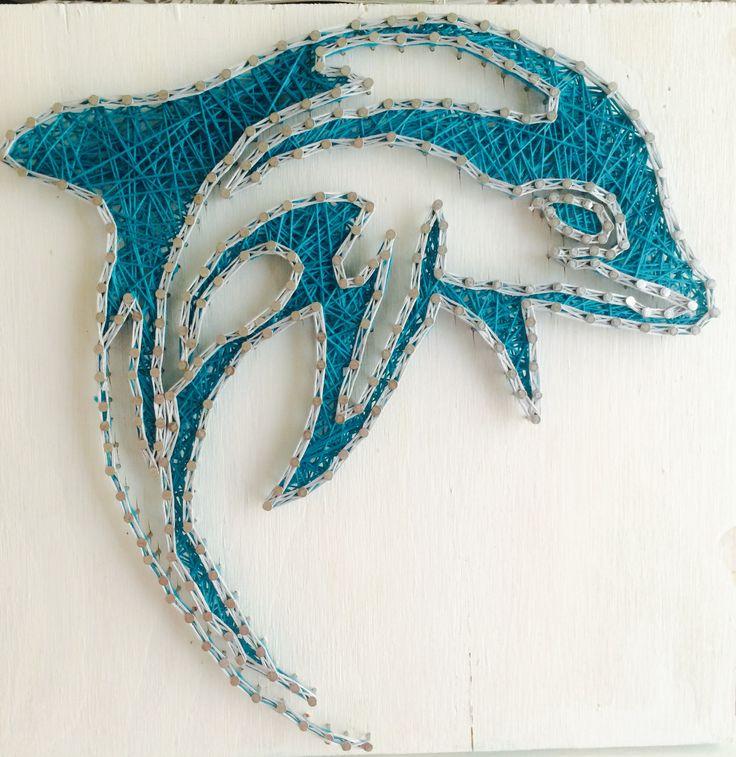 12x12 Dolphin String Art