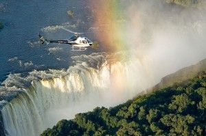 Flight of the Angels over Victoria Falls (Zimbabwe)