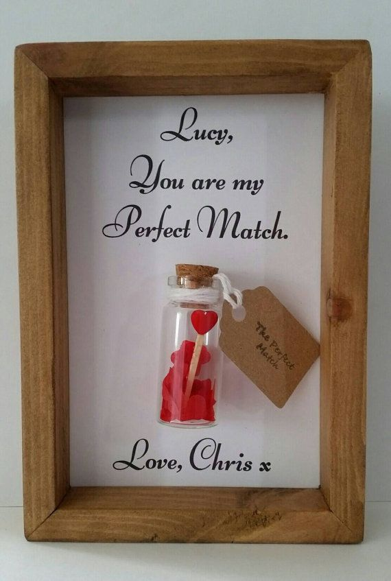 Girlfriend gift, Christmas gift ideas for girlfriend, Anniversary gift, The perfect match. Personalise it with names or your own message.