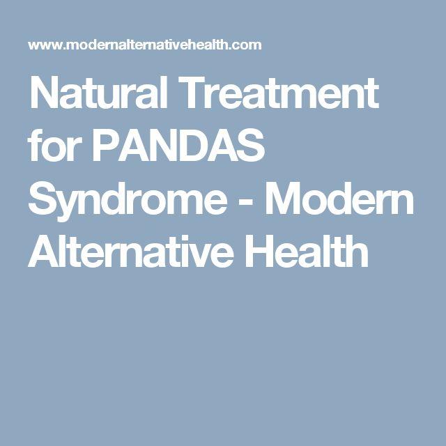 Pandas Syndrome Natural Treatment
