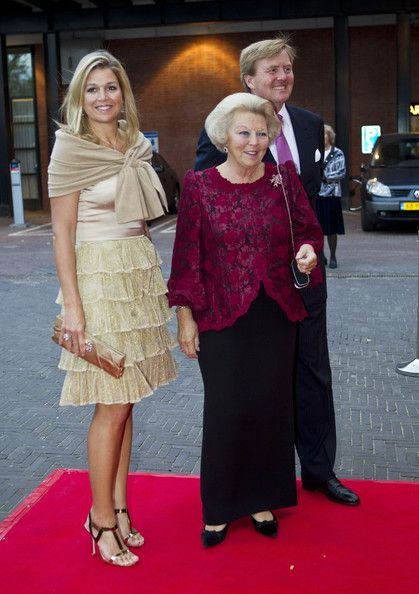 Queen Beatrix, CP Willem Alexander and CP Maxima going to the ballet.