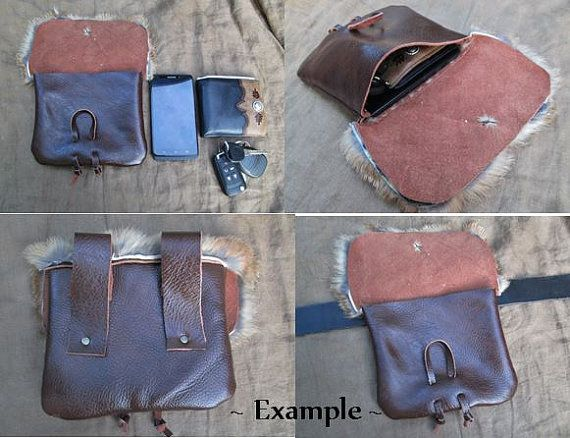 1 Medieval Leather Pouch Bag Choose Your by FolkOfTheWoodCrafts