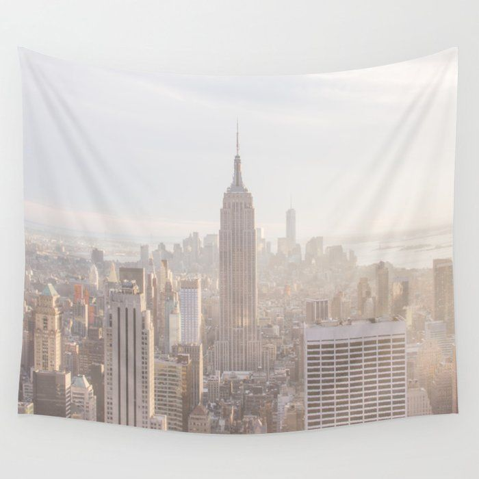 New York City Wall Hanging Tapestry By Blue Water Small 51 X 60 In 2020 Tapestry Wall Tapestry Tapestry Wall Hanging