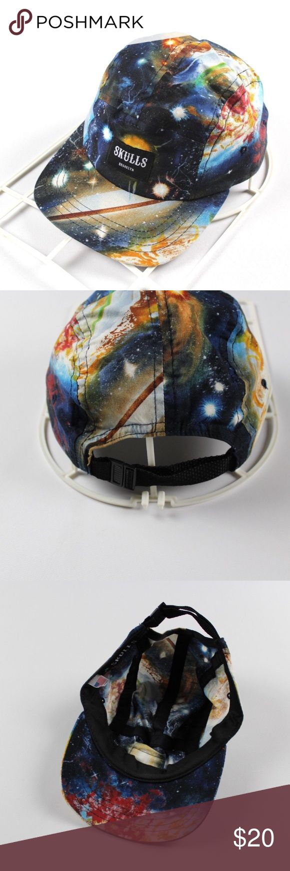 Skulls NYC Galaxy Space Print 5 Panel Hat Cap Skulls Brooklyn Space Print Galaxy 5 Panel Hat  Excellent hat  Comes from a smoke-free household  Space print  Strapback  Cotton  Check out my other items for sale! Skulls NYC Accessories Hats