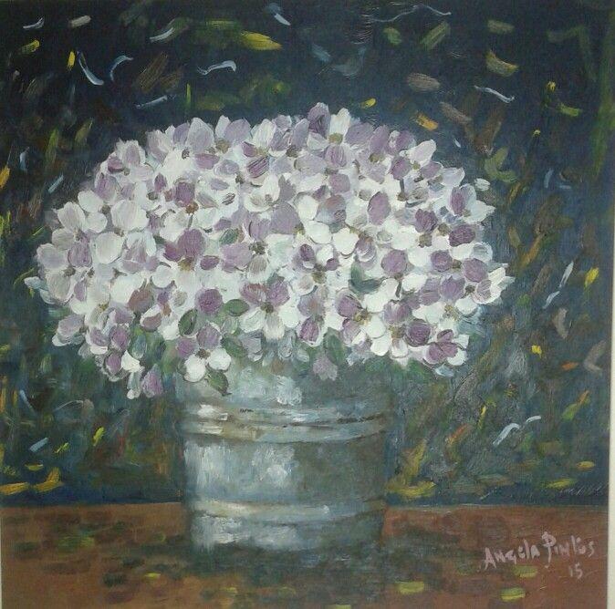 Flowers.. olio su tela
