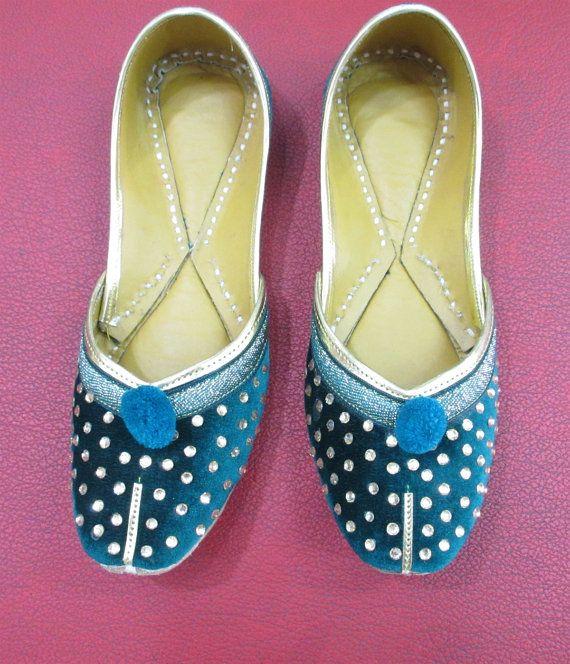 Women Green Flat Shoes Wedding Shoes Bridal Shoes by BeautyShop21