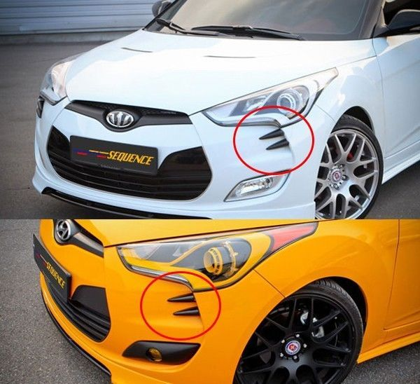 Devil's Claws Bumper Accessories 4P For Hyundai Veloster & Turbo 2012 2016 #Sequence