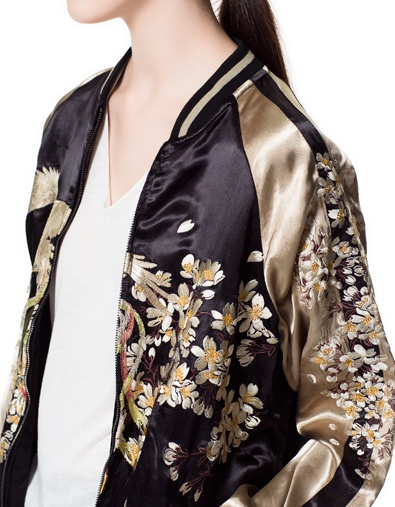 EMBROIDERED BOMBER JACKET WITH CONTRAST DETAILING ($199.00) - Svpply