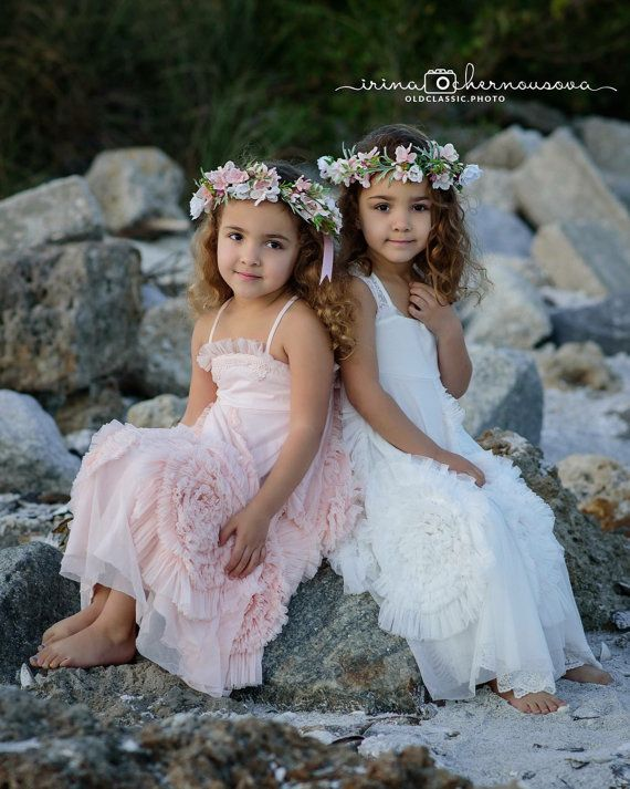 Sisters matching flower crowns, Girls flower crown, baby headband, flower headband, boho flower girl, flower girl, Toddler flower crown
