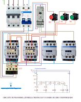Esquemas eléctricos: Esquema eléctrico circuito de maniobra estrella tr...