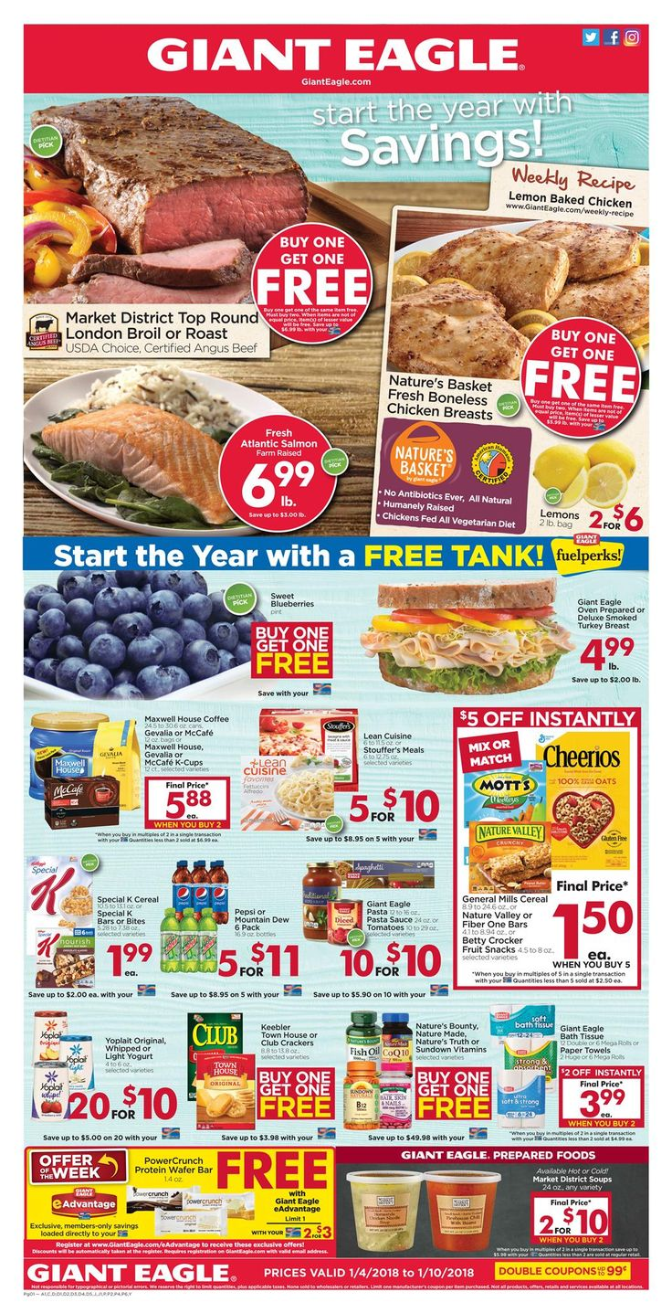 Giant Eagle Weekly Ad Jan 04-10, 2018 https://www.weeklyadspecials.com/giant-eagle-weekly-ad/