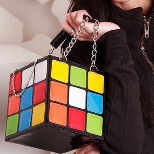 Rubikwürfel  Handtasche 80er Jahre Blogger von MagicShell auf DaWanda.com