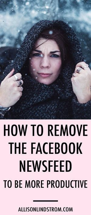 How to Remove the Facebook News Feed to Be More Productive || Facebook is a necessary evil for anyone wanting to grow a blog or business. But it can be distracting! Here's how I increase my productivity by removing the Facebook news feed.