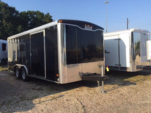 2015 Haulmark 8.5X18 Enclosed Trailer With R Enclosed Car Hauler With Ramp Door  - Spring TX