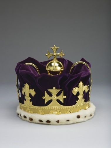 "1728 British Prince of Wales's coronet in the Royal Collection, UK - From the curators' comments: ""The form of the coronet to be worn by the heir apparent to the Crown (usually the Prince of Wales) was decided in a warrant issued in 1677 by Charles II....It is not clear that the coronet was much worn by Frederick, although it does appear in a portrait of him, painted in 1742 attributed to Joseph Highmore, and it was carried before the Prince when he attended the State opening of Parliament."""