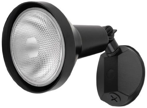 Globe Electric 69008 Single Head Outdoor Security Light Fixture, Black by Globe Electric. $19.99. Globe single head security light provides safety and quality light for the outside of your home. This outdoor landscape light fixture requires 1 150-Watt par 38 or br38 light bulb